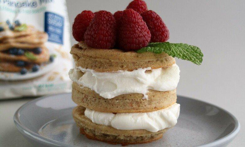 Proteinpannkaka med grekisk yoghurt
