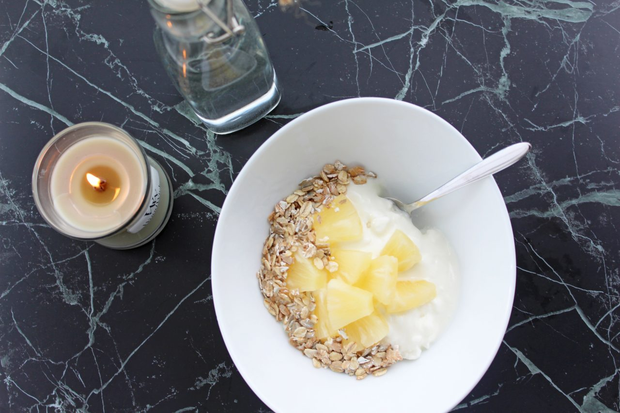 Cottage cheese med ananas