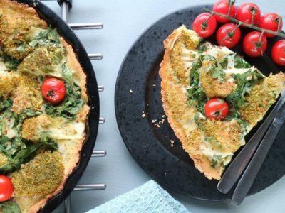 vegetarisk paj med broccoli recept