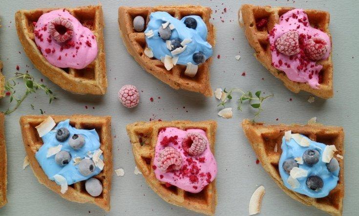 Keso waffle-snack bites