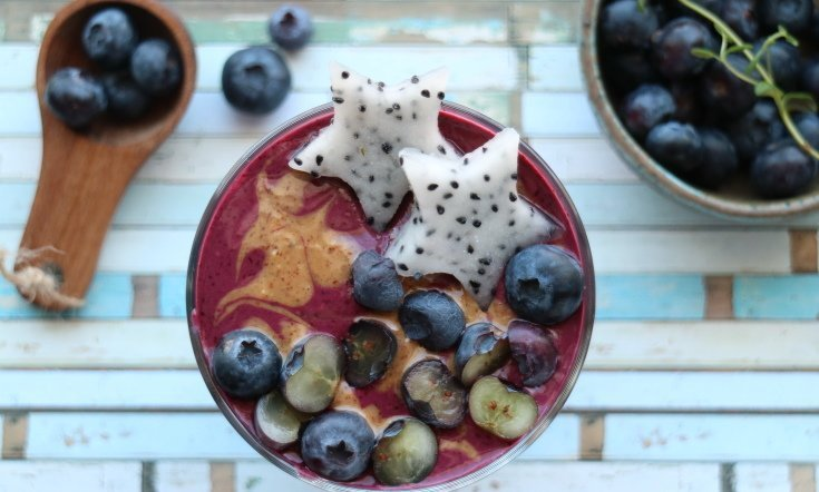 Blåbär och vaniljsmoothie