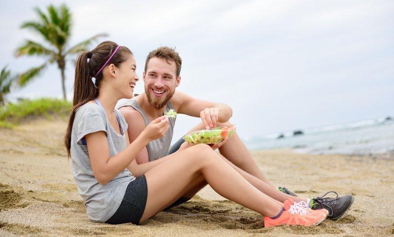 Dagsmeny för män håll vikten