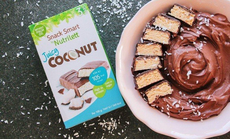 Nyttig chokladmousse Smak av kokos