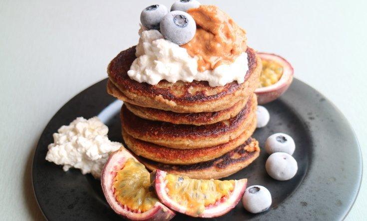 nyttiga pannkakor med kikärtor