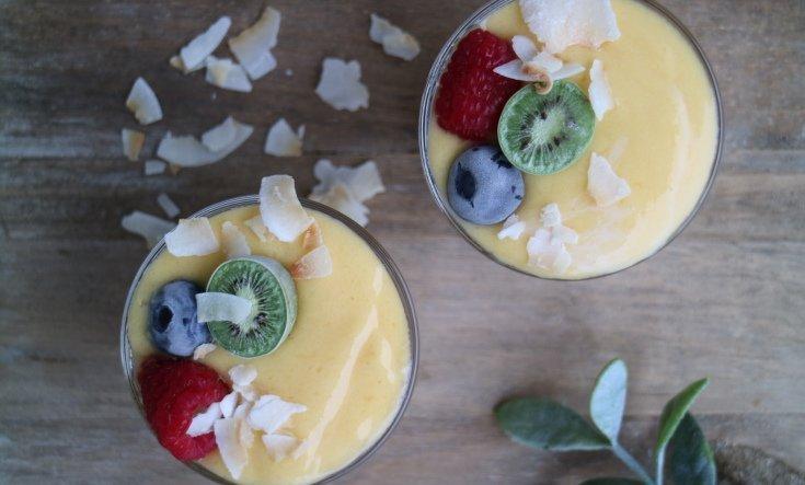 Lågkalorismoothie - Mango och kokos